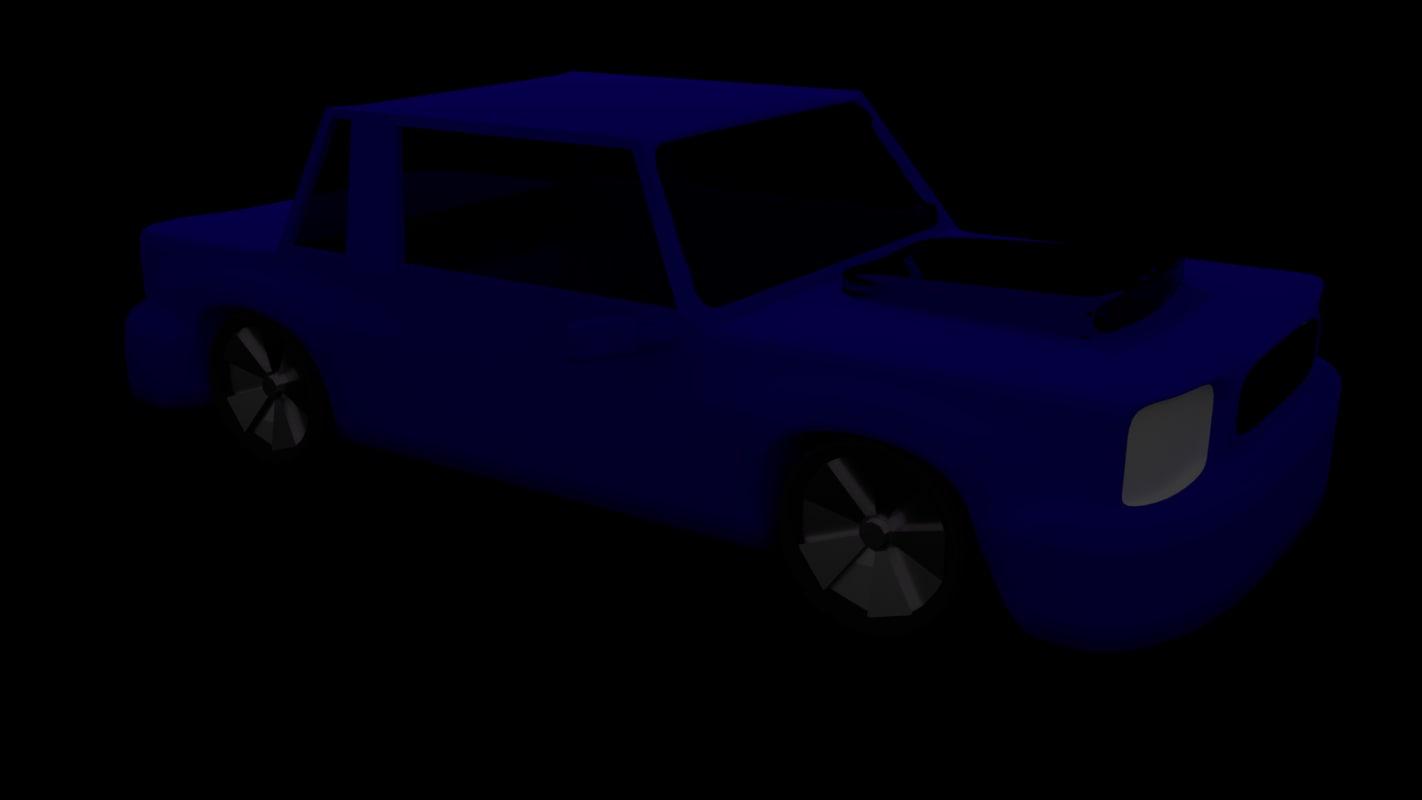 car 3d obj