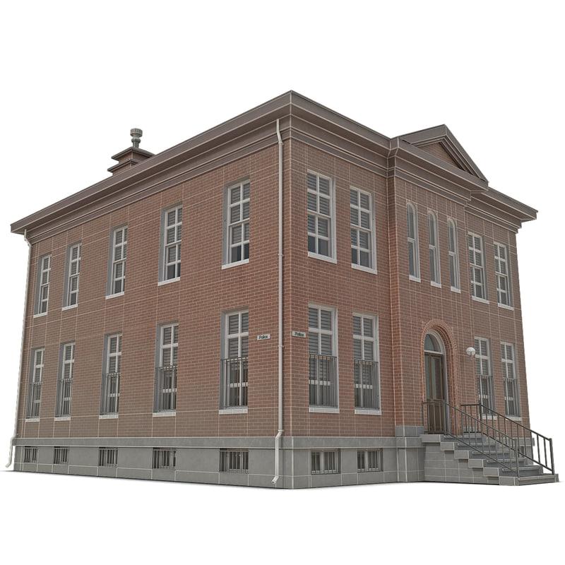 3d model police station building
