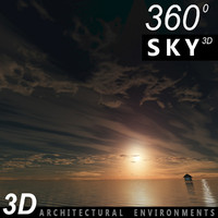 Sky 3D Sunset 004