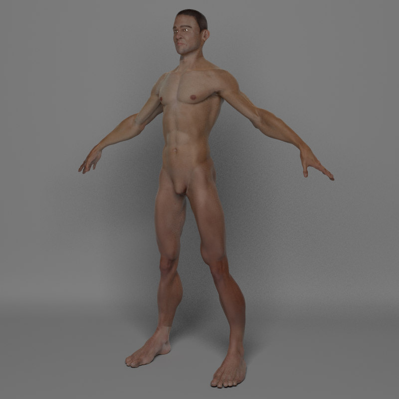3d photo real male body model