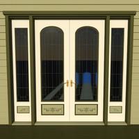 decorative victorian double door obj