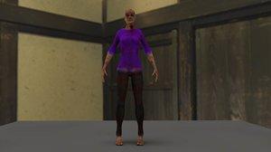 3d model zombie