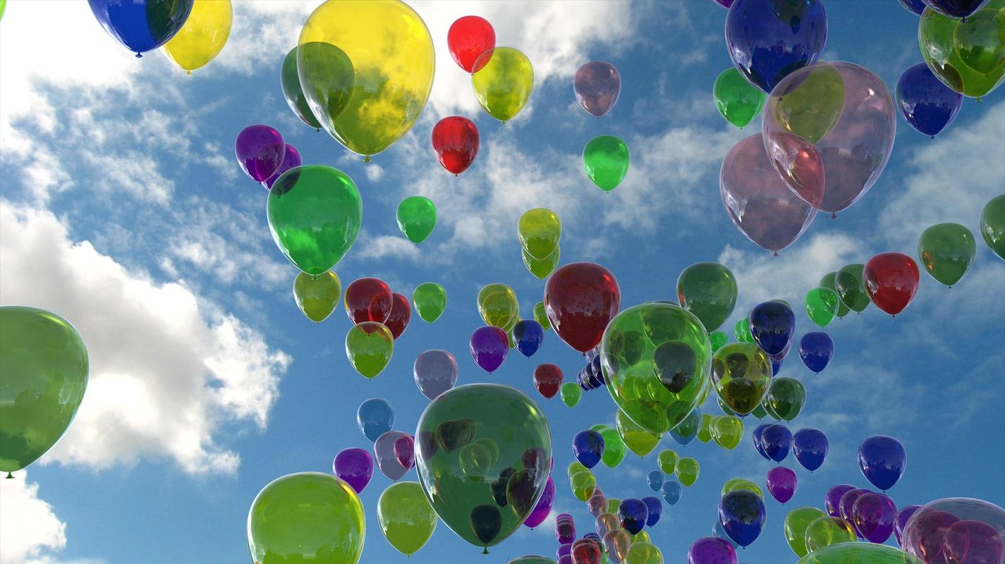 balloons heart 4k ige