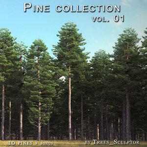 pine-trees pine tree 3d 3ds
