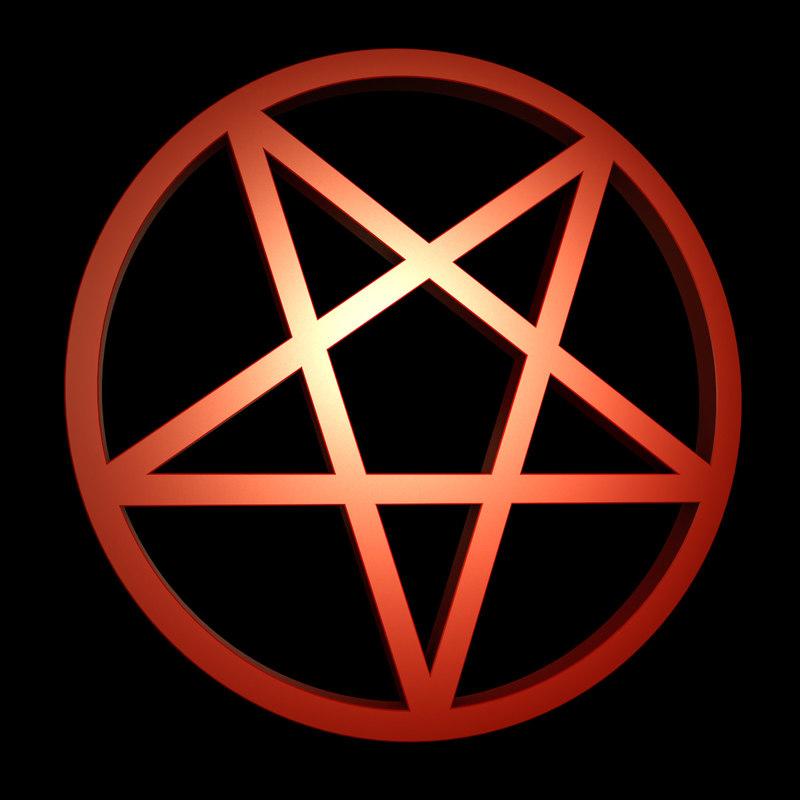 3d inverted pentagram model