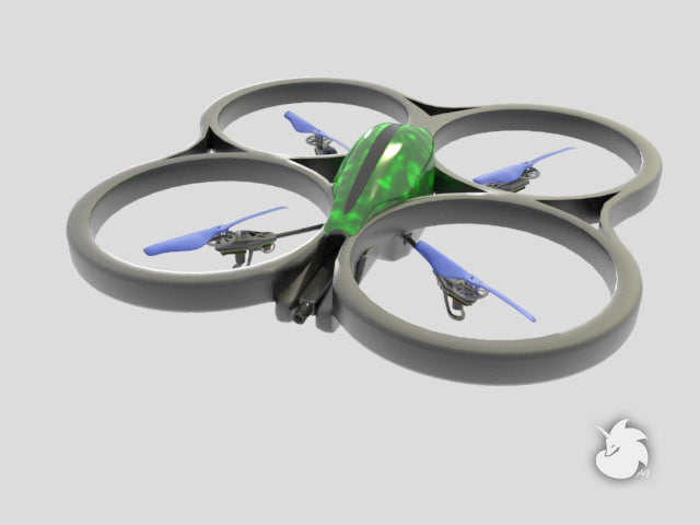 3dsmax parrot ar drone