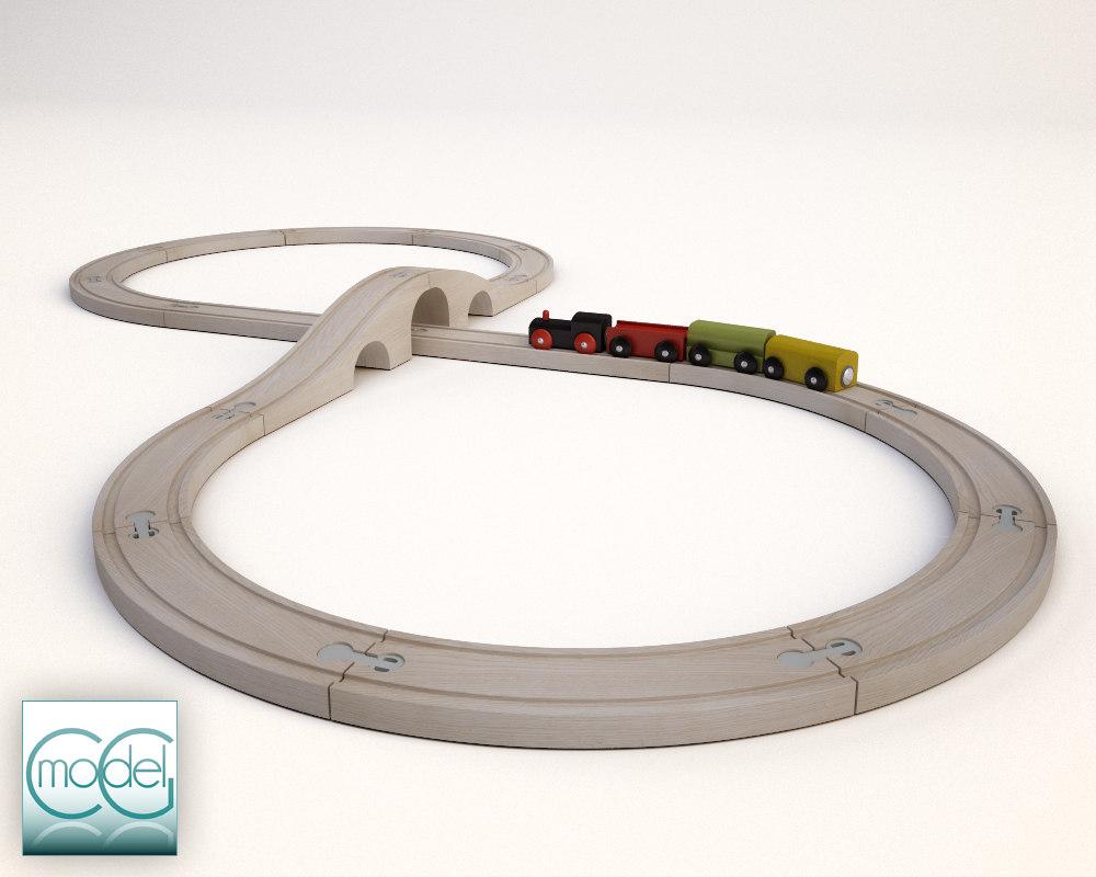 3d train ikea model