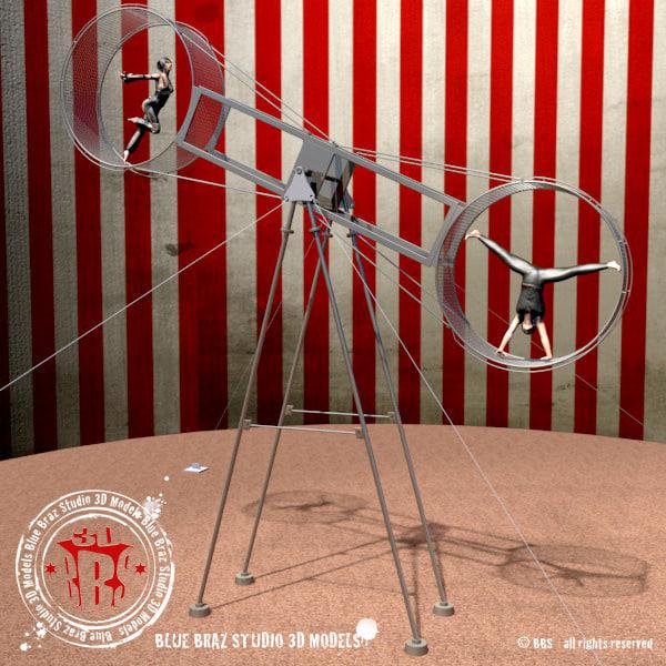 wheel death 3d model