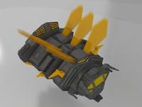 3d bee fighter model
