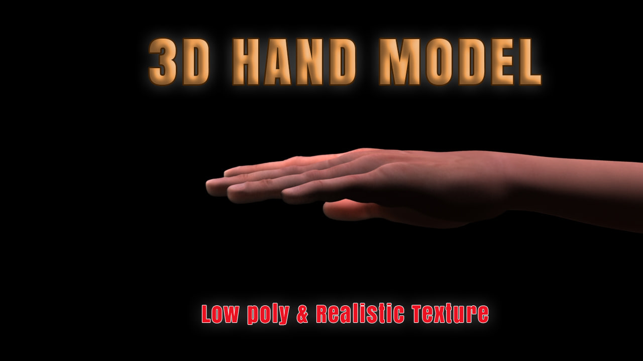3ds max ready realistic hand