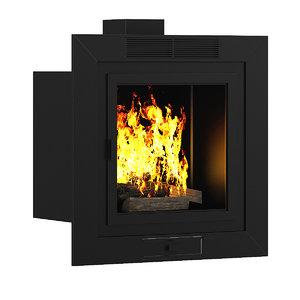 3dsmax wall fireplace