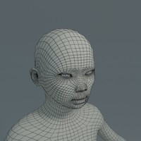 girl asian basemesh 3d model