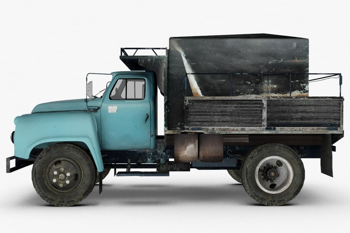3d old truck model