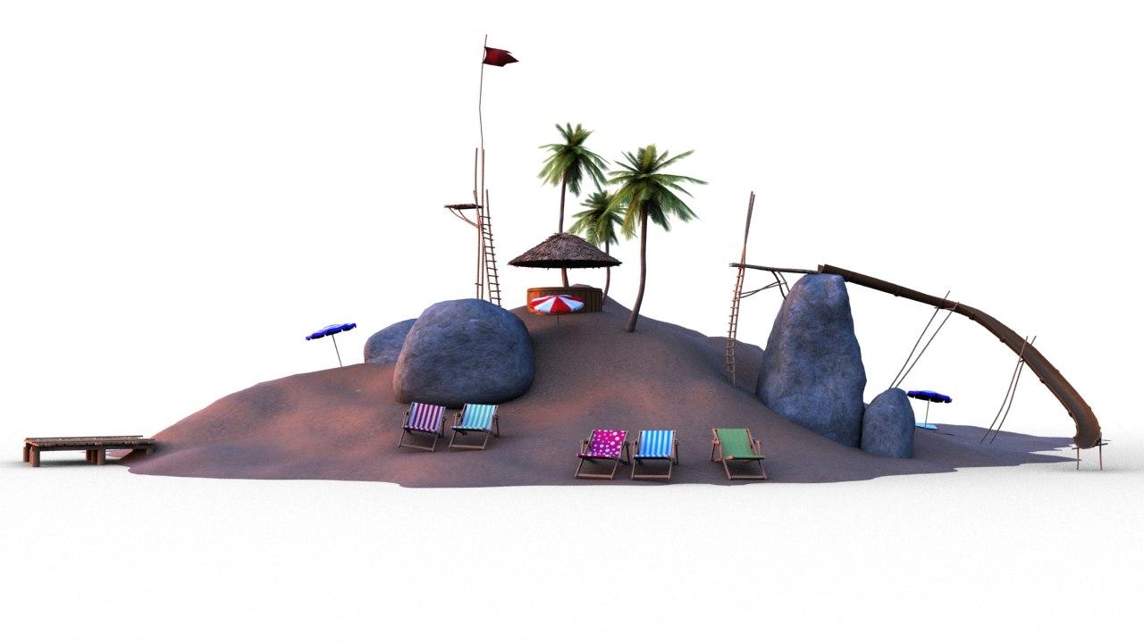 max island beach