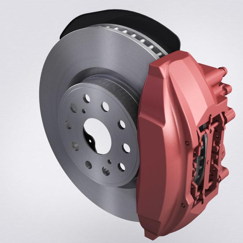 3d max brembo brake
