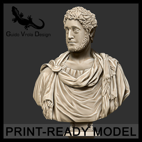 3d printable commodus emperor model