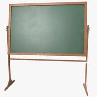 3d chalkboard board model