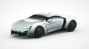 3d lykan hypersport