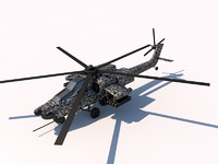 mil mi-28 havoc helicopter 3d c4d