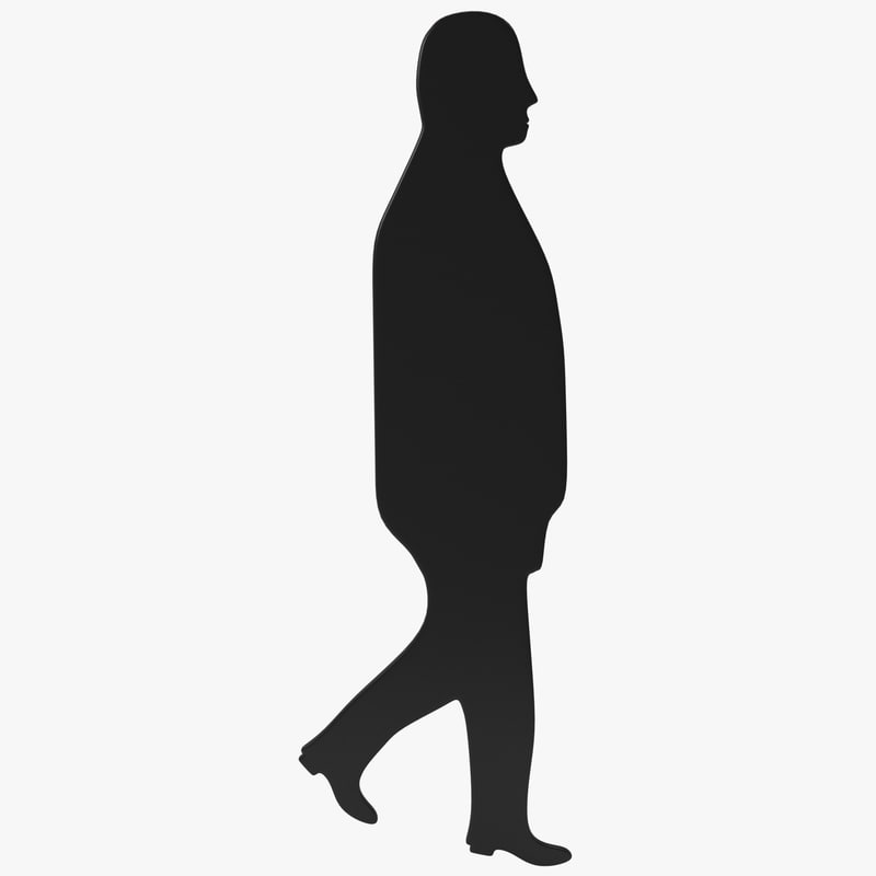 man silhouette 5 3d model