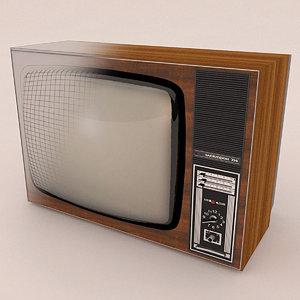 old tv elektron 714 3d max