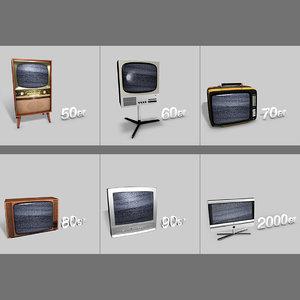 3d model tv sets