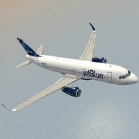 sharkleted a320neo jetblue 3d 3ds