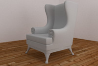 3d model armchair living rooms