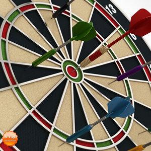3dmax dartboard dart