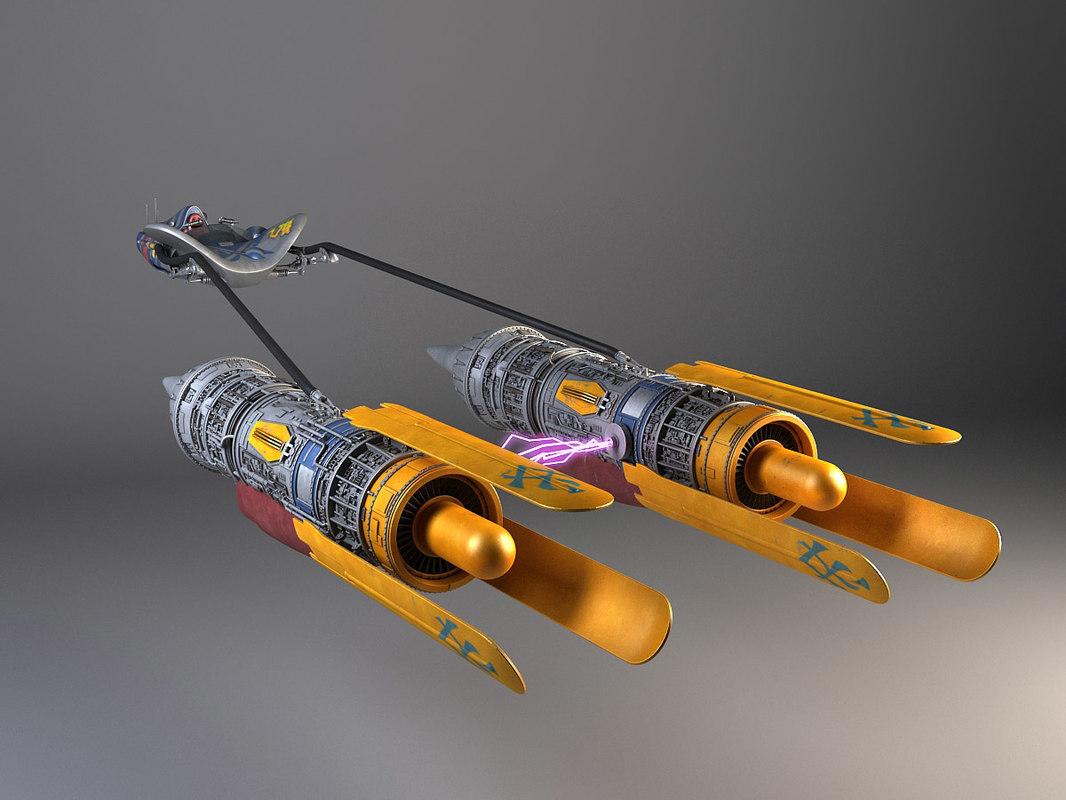 3d model star wars anakin