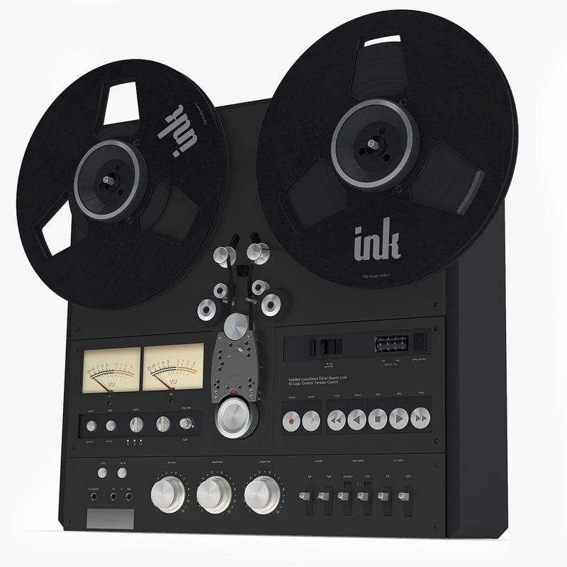 tape recorder 3d model