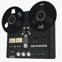 tape recorder 3d model