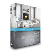 CGAxis Models Volume 45 Fireplaces C4D