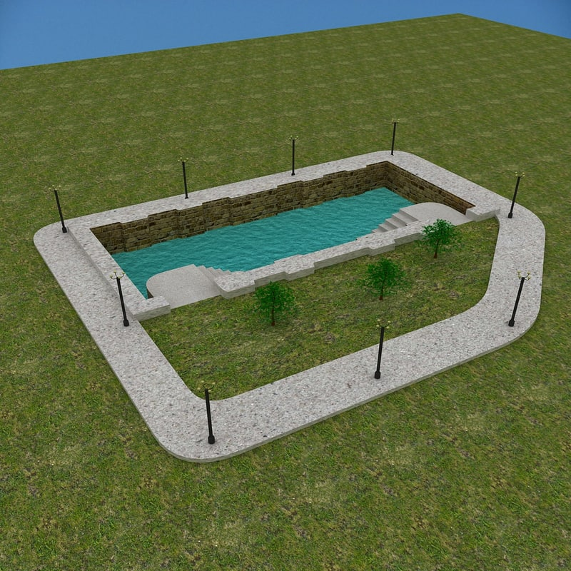 free swimming pool 3d model