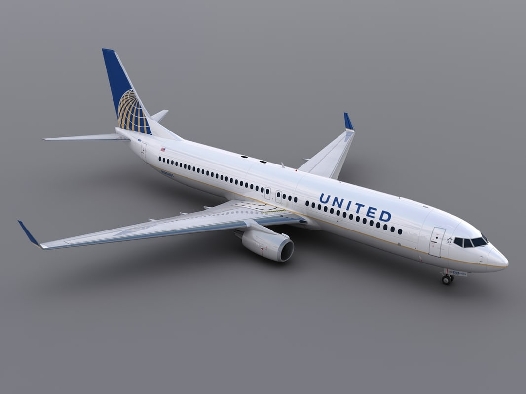 aircraft united 3d model