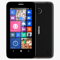 3d nokia lumia 630 black