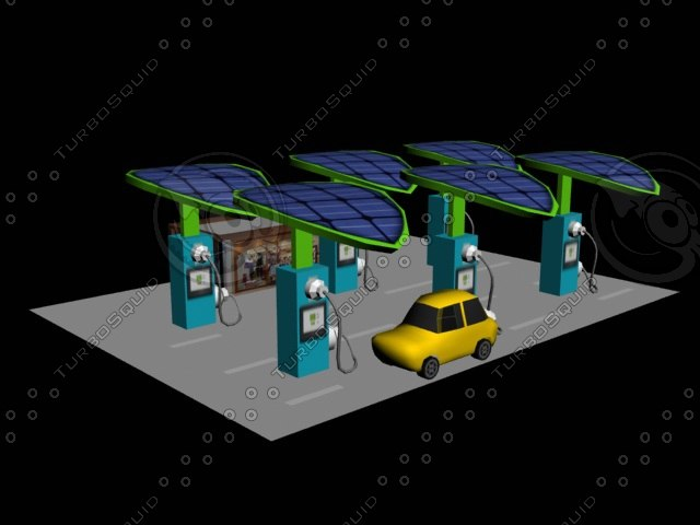 electric station 3d model