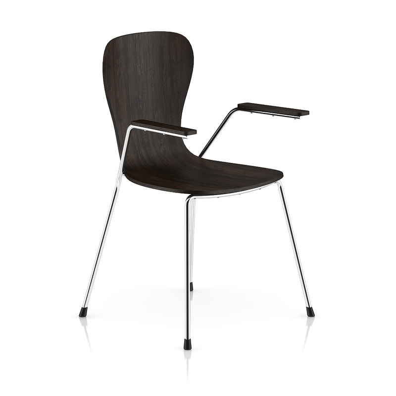max dark wood chair metal