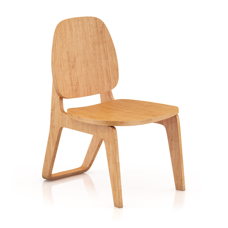 3d wooden chair model