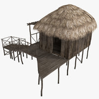 3ds max beach bungalow