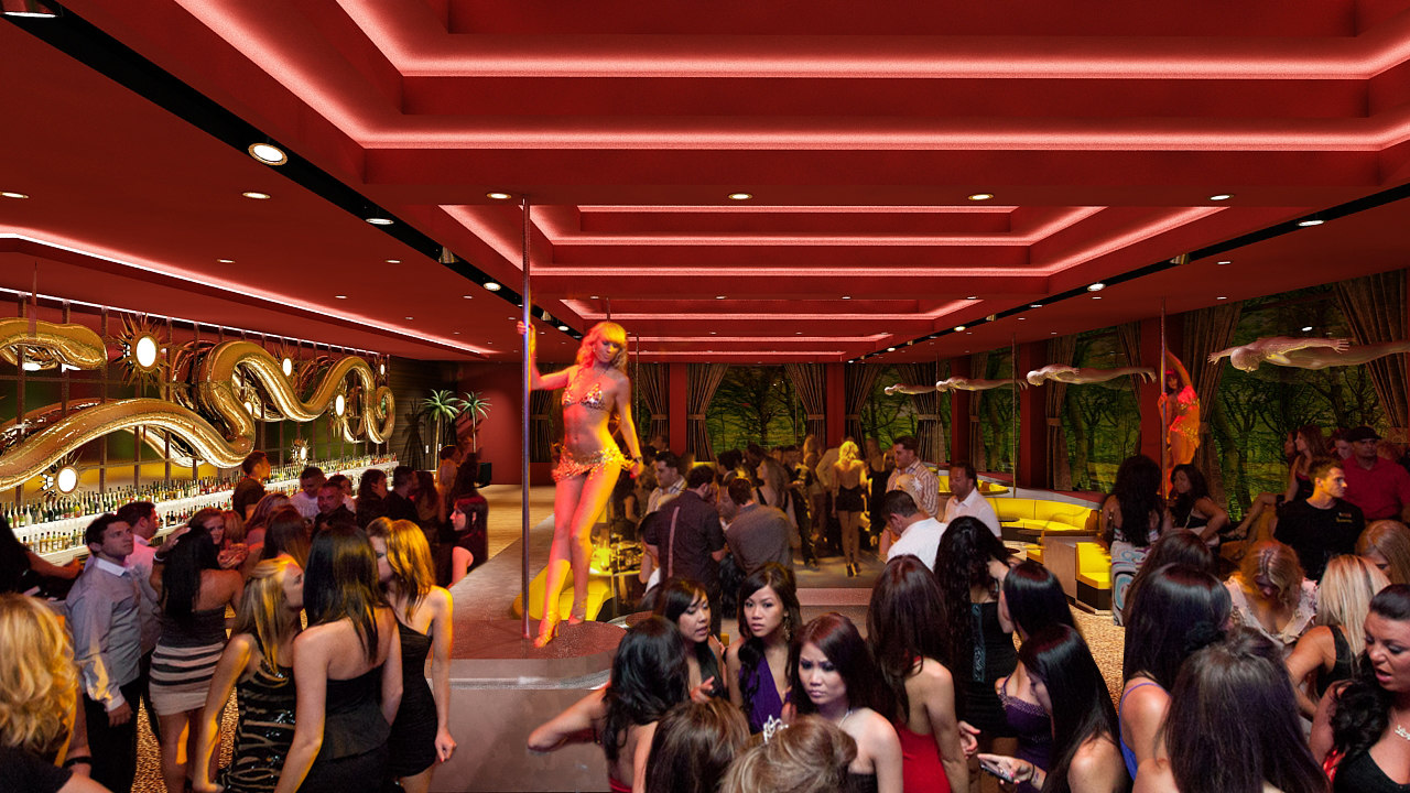 3d nightclub bar