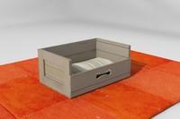 dog crate 3d x
