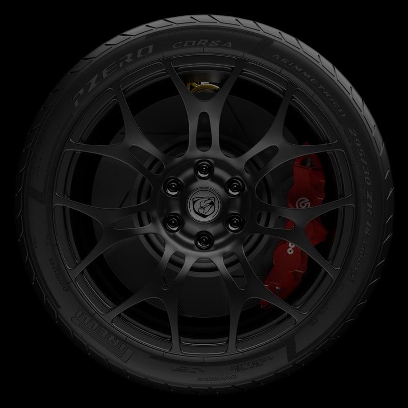 3d model 2014 dodge viper wheel