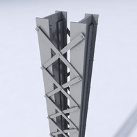 girder bridges construction 3d model