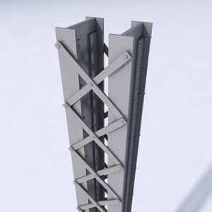 girder bridges construction 3d model