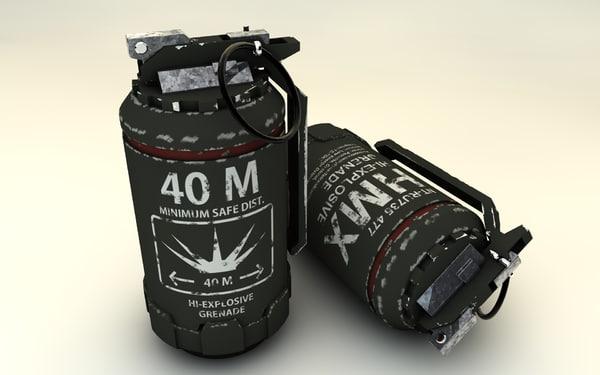 grenades elisium 3d c4d