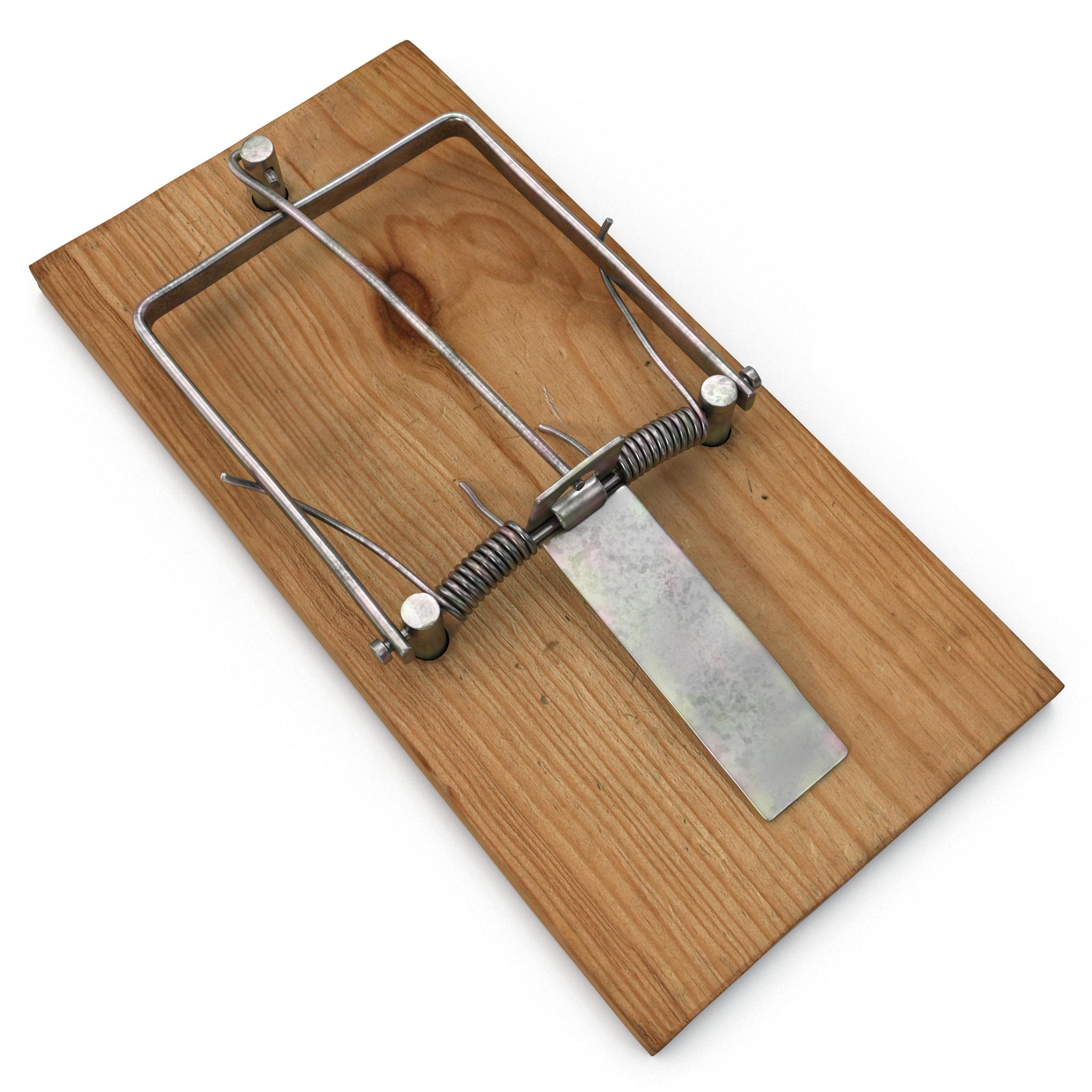 3d model mousetrap loaded