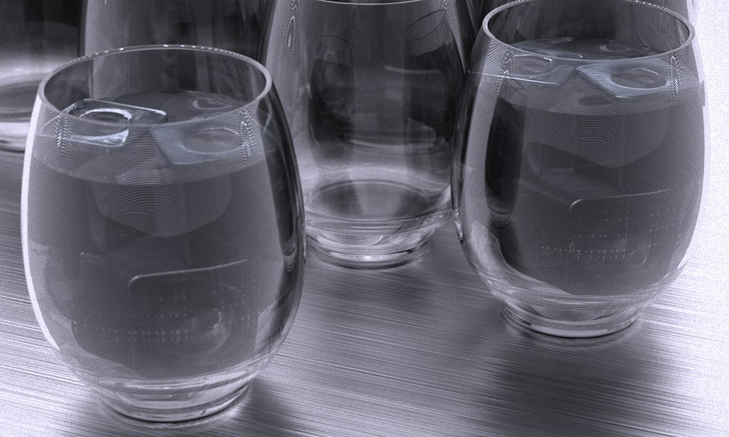 max nordsk veit 6in drinking glass