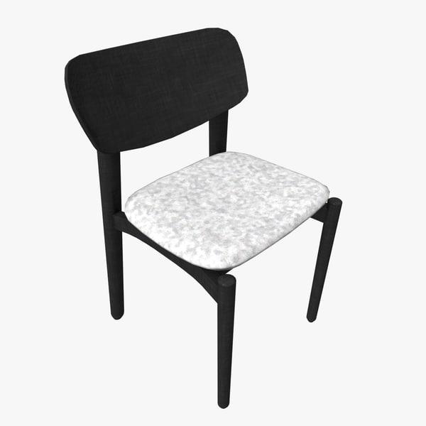 cafe chair fizz 3d model