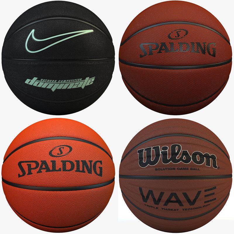 basketballs set nike 4 3d max